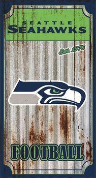 Seattle Seahawks Corrugated Metal Wall Art
