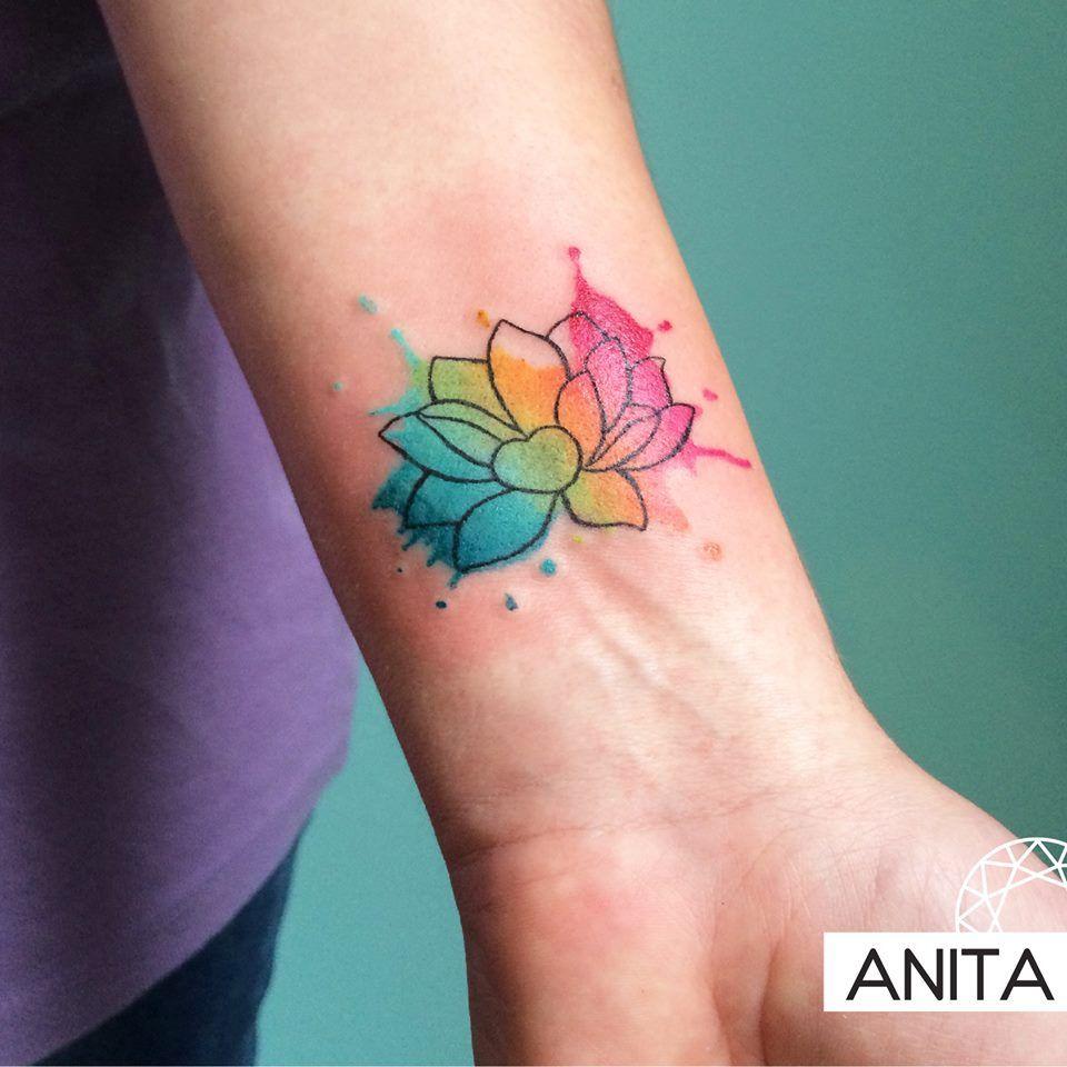 Iris Tattoo Rainbow Tattoos Watercolor Wrist Tattoo Small Wrist Tattoos