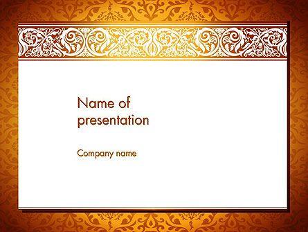 Arabesque Powerpoint Template  Arabesque    Template