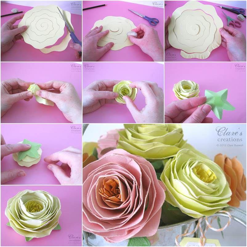 Wonderful DIY Easy Rolled Spiral Paper Flower   Beautiful, Flower ...