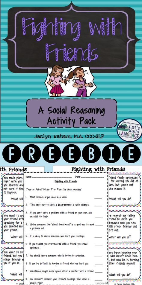 Social Skills Problem Solving Fighting With Friends 3rd