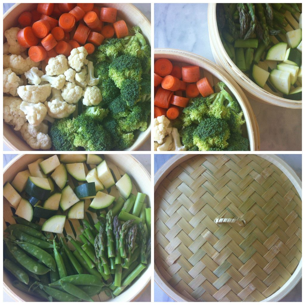 Vegetables cooked in a bamboo steamer easy finish with a vegetables cooked in a bamboo steamer easy finish with a drizzle forumfinder Choice Image