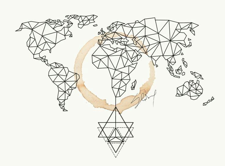 Pin by Asena on Pattern Pinterest Tattoo, String art and Journal - copy world map vector graphic