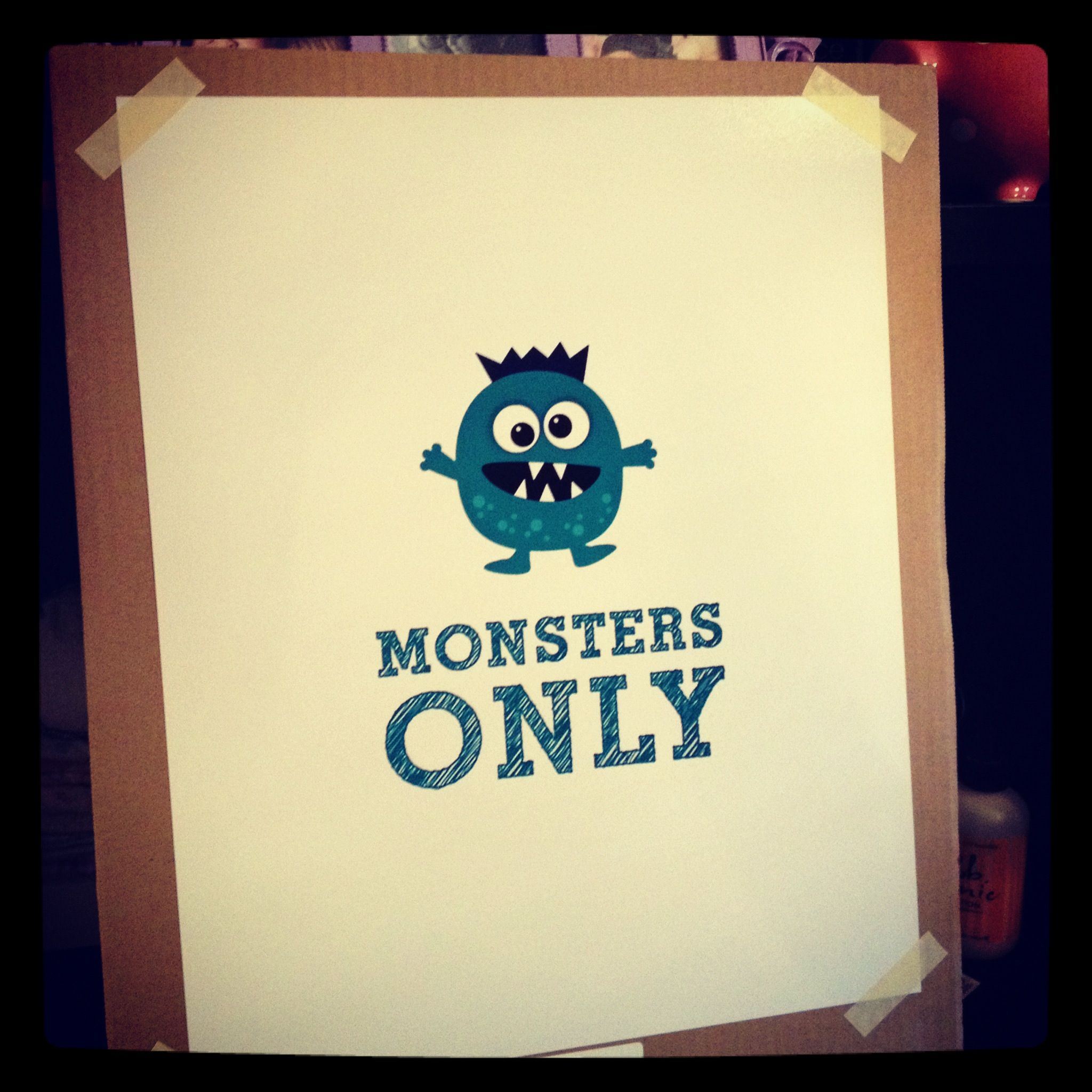 monster nursery | DIY Canvas Art {Nursery Decor} | pinsandpetals ...