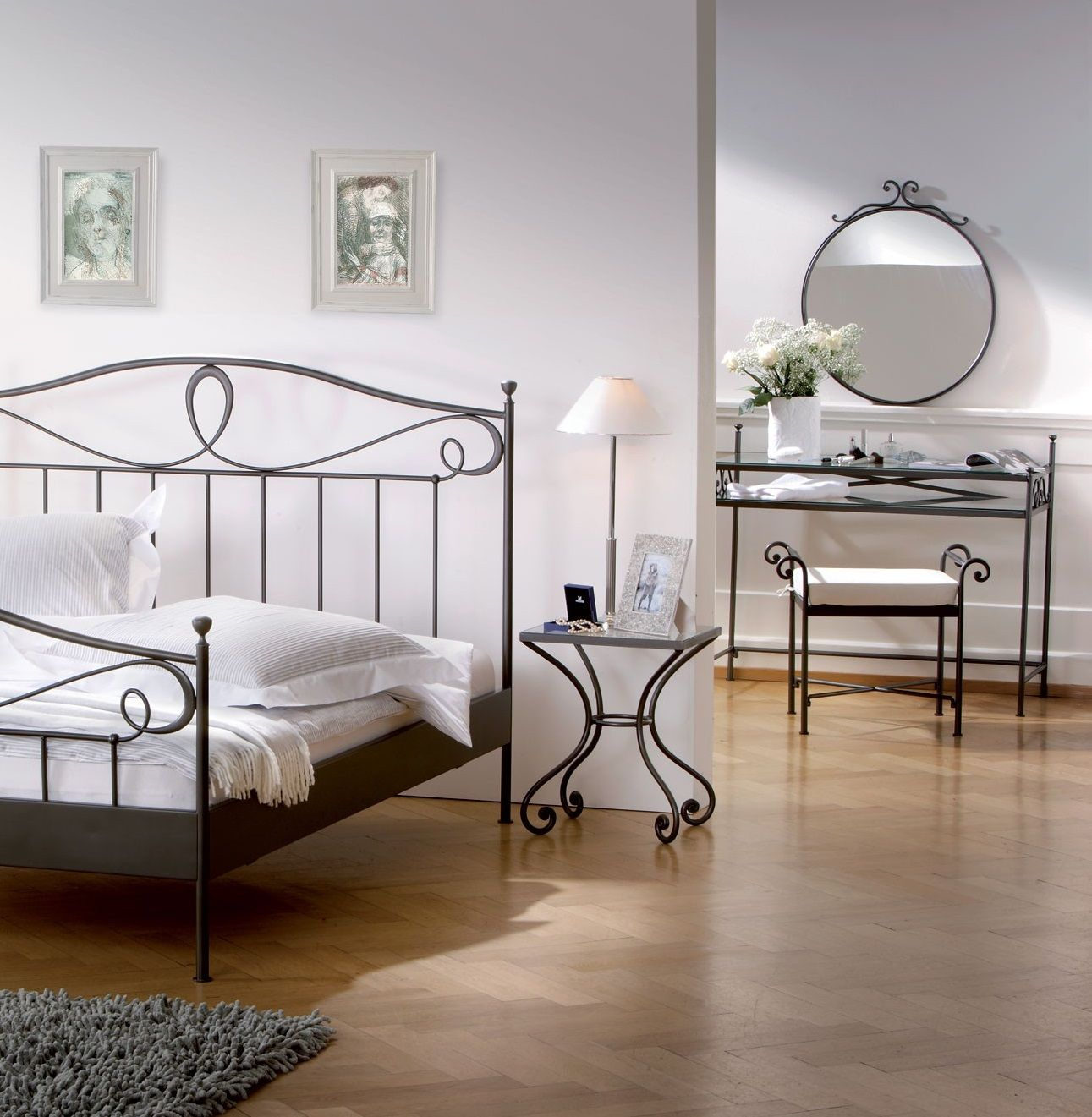 Wrought Iron Bedside Tables To Match The Demon Bed Made By Spw