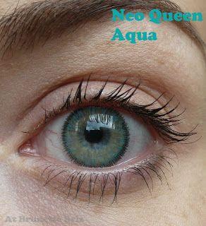 At Brunette Briz Neo Queen And Glamour Aqua Circle Lenses