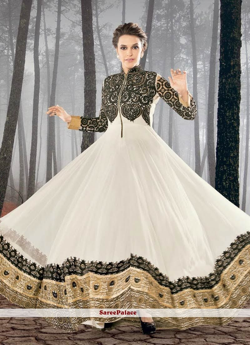 Stylish white dress wedding umbrella frocks churidar designs - Latest Collection Of Indian Pakistani Asian Women Umbrella Frocks Consists Of Stylish Umbrella Style Dresses Designs Of Ankle Medium And Long Floor