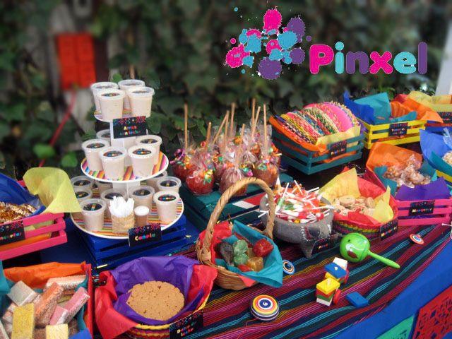 Pinxel decoración souvenirs mesa de dulces mexicanos