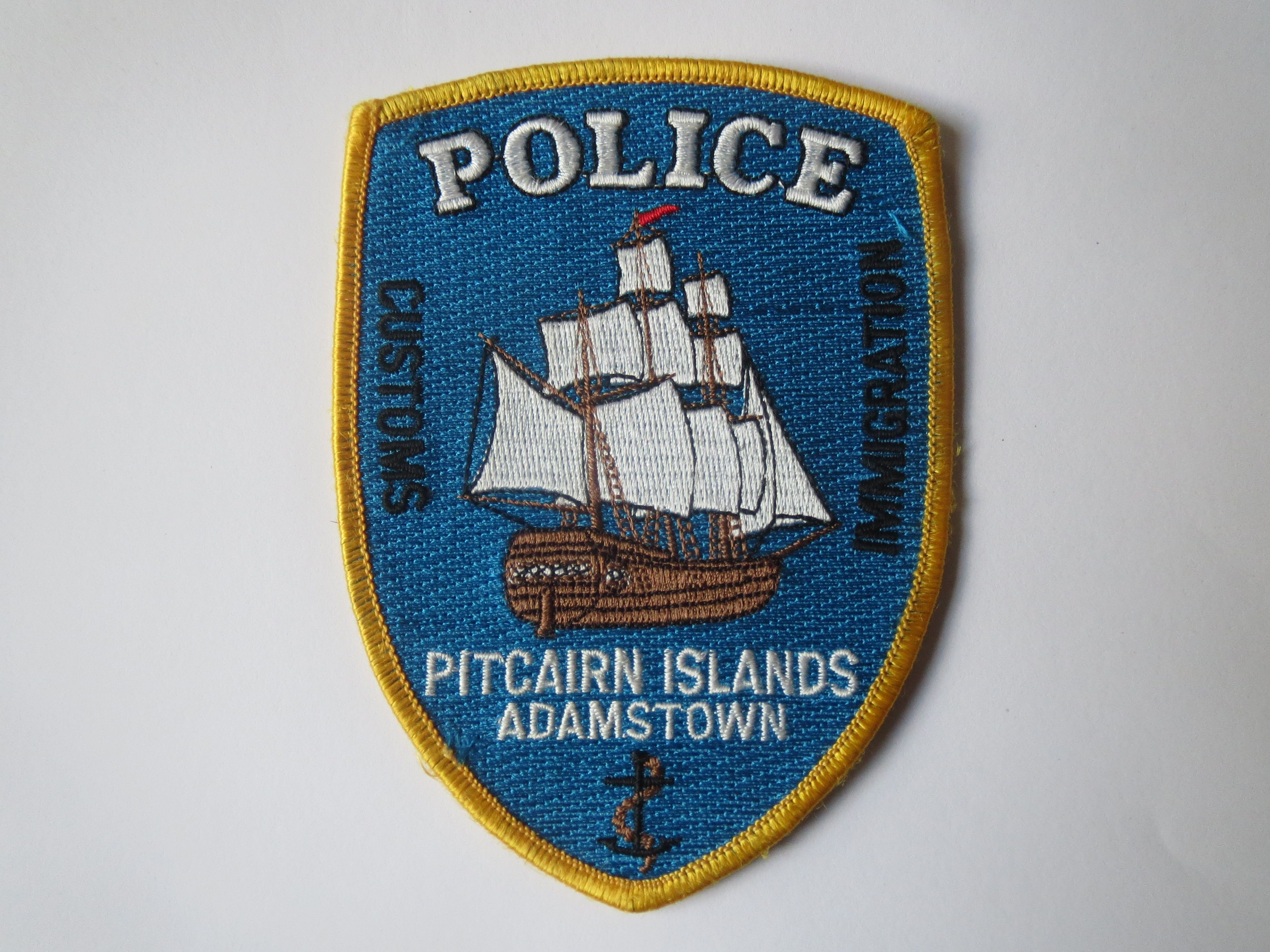 Pitcairn Island Police Australia And Pacific Police Patches - Pitcairn island one beautiful places earth