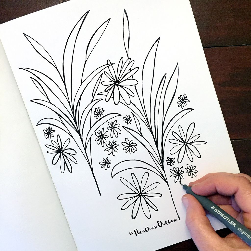 Daisy field sketchbooks and watercolor