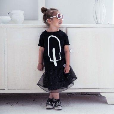 T-Shirt Popsicle Black - Kindish