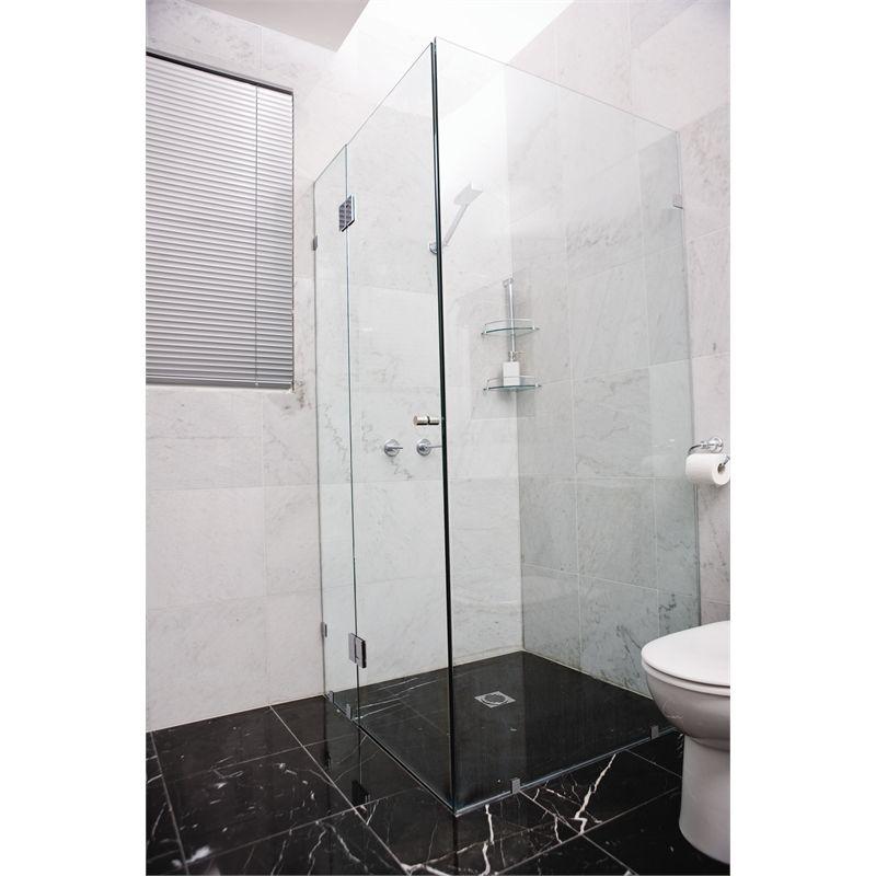 Highgrove 10 x 2000 x 1175mm frameless glass shower panel kit i n 4890230