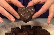 Dark Chocolate-Cherry Ganache Bars