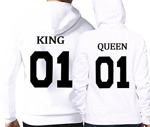 King Queen 01 Hoodies King Und Queen Parchen Hoodie Kings Queens Pullover