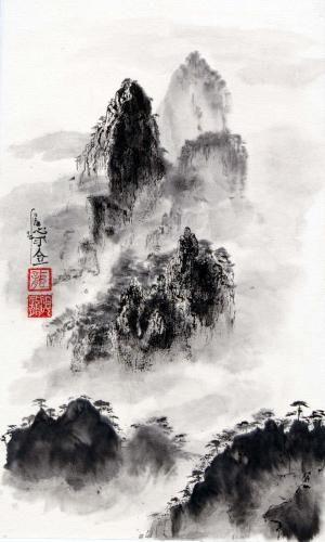 Les Montagnes Celestes Peinture Zen Peinture Peinture Chinoise