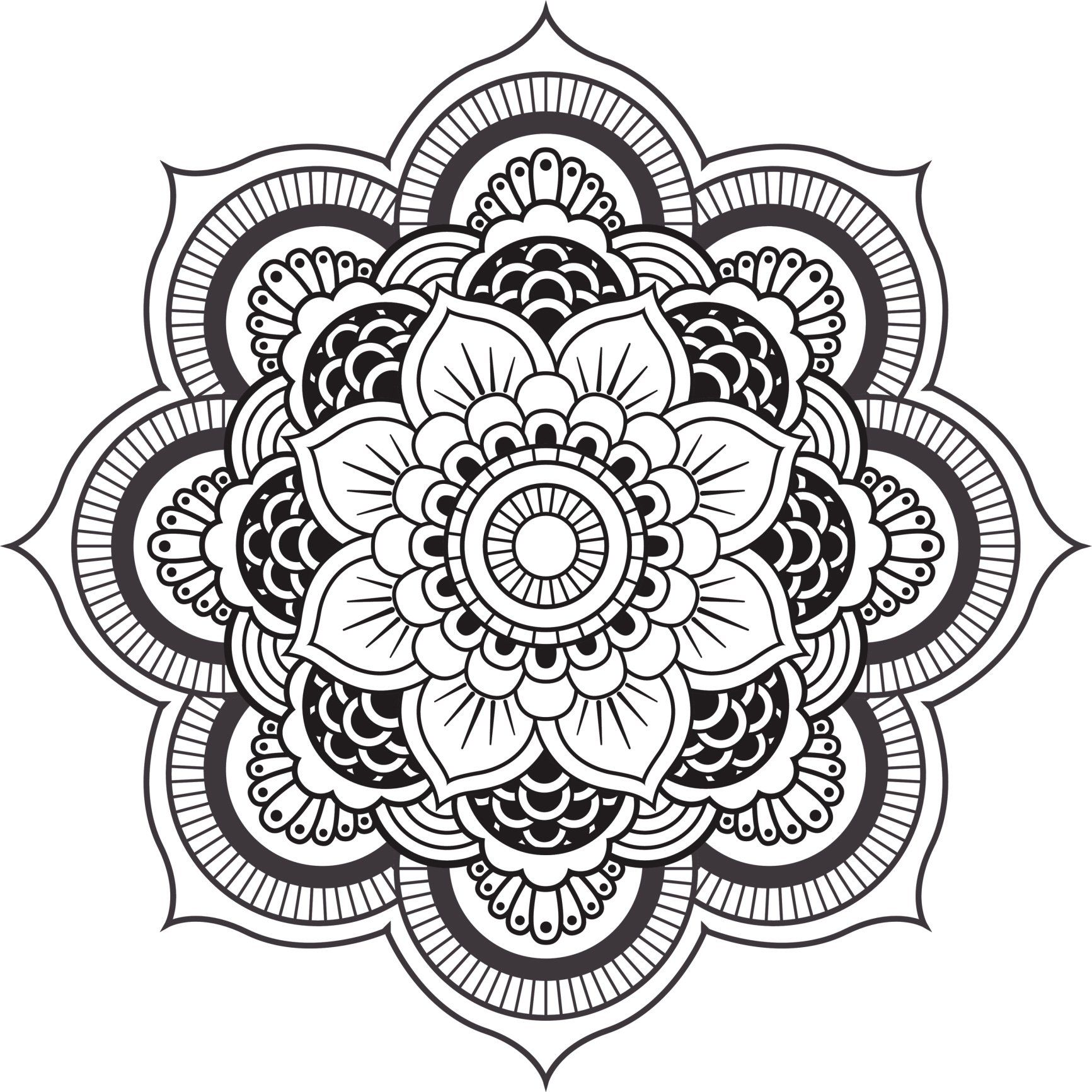 Robot Check Mandala Coloring Books Mandala Mandala Coloring Pages