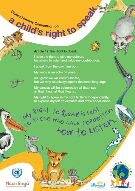 Rights of the Child Posters | About Children's Week | Children's ...