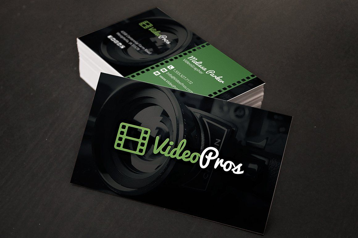 Videography Business Card Graphic Design Business Card Business Card Dimensions Business Card Photoshop