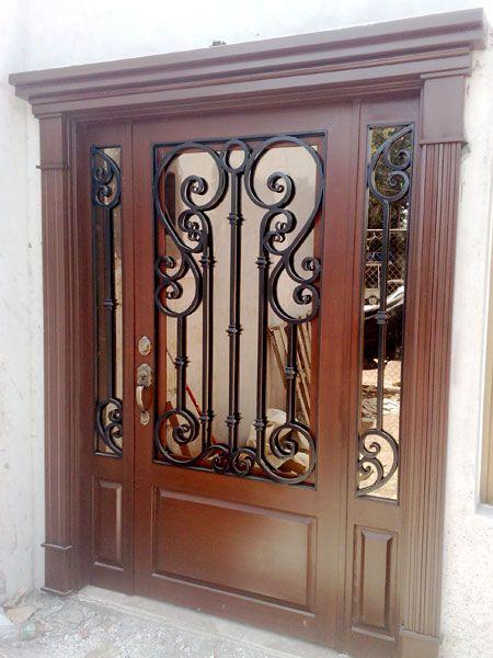 Puertas de herreria sencillas puerta reja hierro pesada for Puertas de herreria para casa