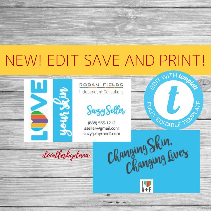 EDIT, save and PRINT - DIY Business Card - Rodan and Fields ...
