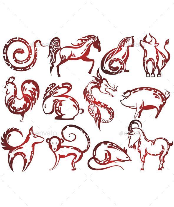 foto de Chinese Zodiac Signs by ksyxa Zodiac Symbols Zodiac sign tattoos Chinese zodiac Chinese