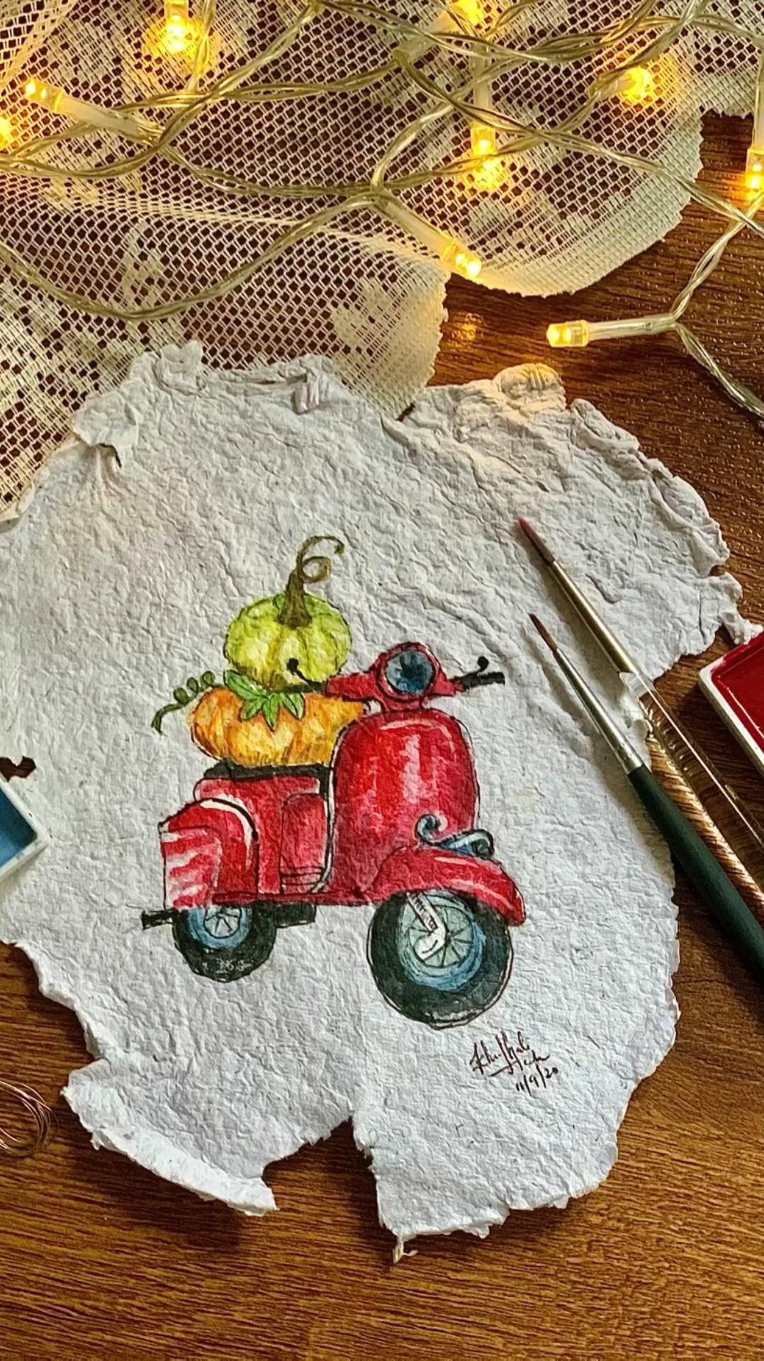 ##lwinsorandnewton #kuretakegansaitambi #watercolor_guide #pumpkinseason #fallpainting #autumnpainting #autumnseason #fall2020 #coloursoffall #watercolorartwork #kreatio #vespaart #handmadepaper #paintingpumpkins #fallart #cutedrawings #handmadepainting #watercolorist #watercolourillustration #vintagepainting #vintageart #watercolorbotanical #itsybitsydtcall #illustration_art #illustratedart #loosewatercolor #watercolorpaintings #watercolorartist #watercolorpaint #gansaitambi