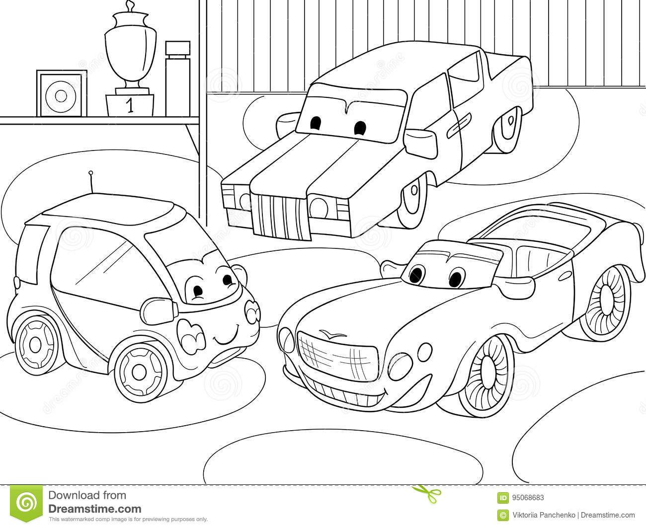 - Photo About Childrens Cartoon Coloring Book For Boys. Vector