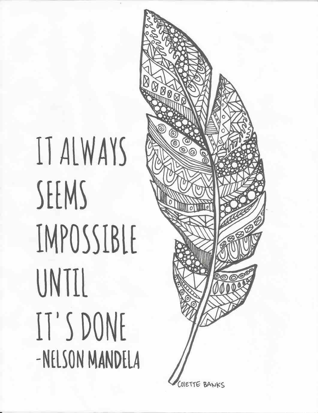 Coloring pages with quotes - Adult Coloring Page Quote Download I Need This In My Life