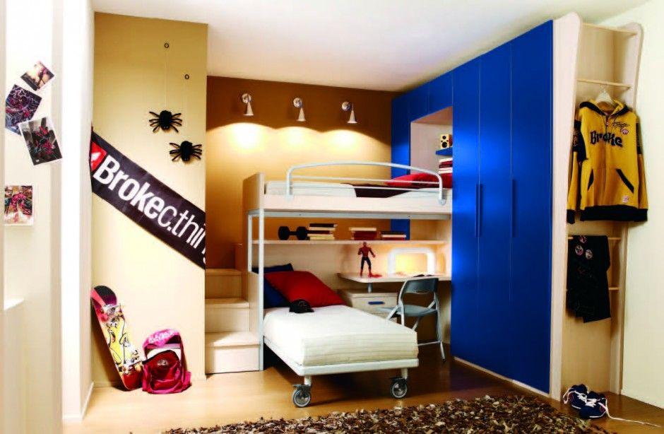 Kids Room Masculine L Shaped Bunk Bed
