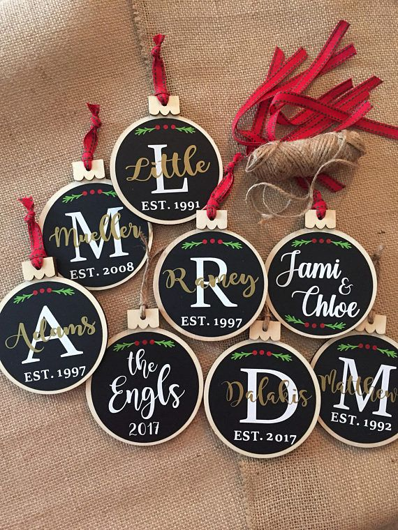 Home Sweet Home Wooden Chalkboard Christmas Ornament, Wedding Gift, Wood Slice Ornament, New Home Ornament, Rustic Christmas, 2018 Ornament