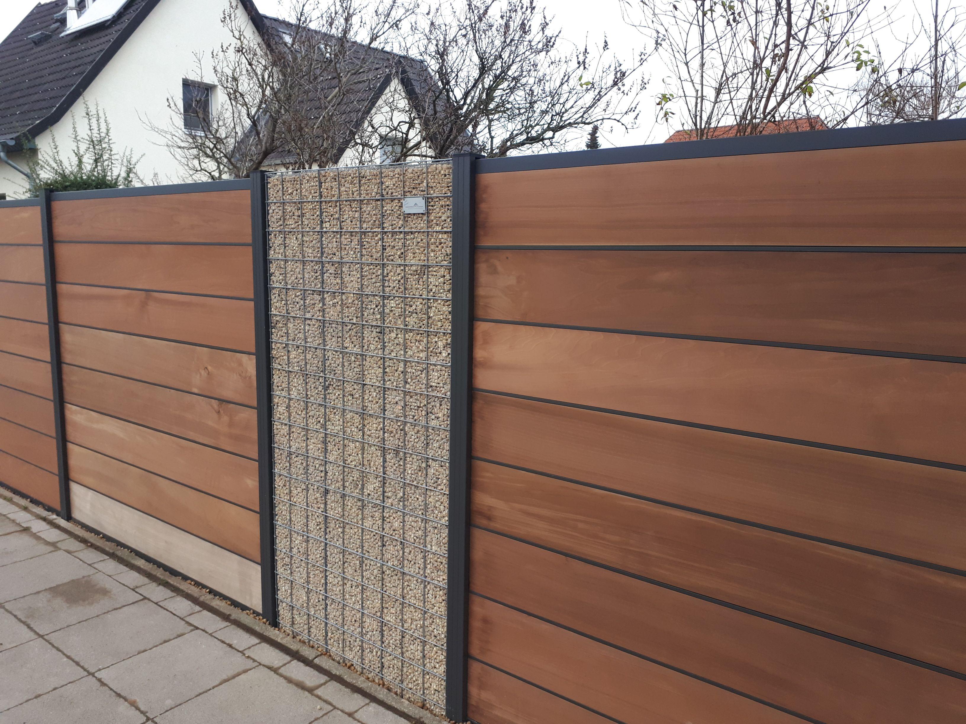 Splittgabionen Gebaut Thermisch Getrocknetes Aspen Holz Inkl