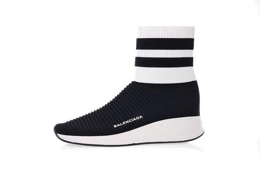 519797ed2899 Balenciaga Speed Stretch Knit High White Black 433214 Woxh8682 Spring  Summer 2018 Cheapest Sneaker