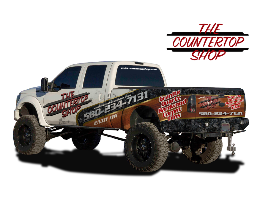 The Countertop Shop 1 2 Truck Wrap By Kikodesigns Business