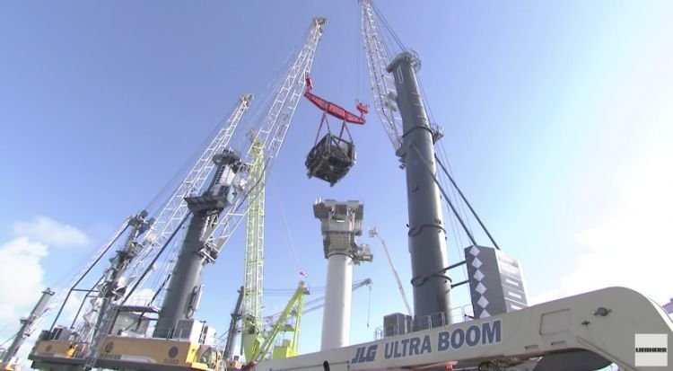 Large Liebherr Offshore winch on the test bench (video)