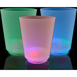 LED Multicolor Mood Lights Short Glass (Pack of 12)