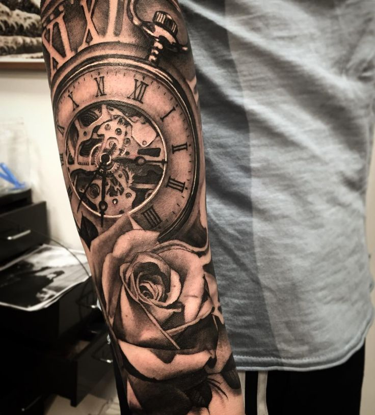 Tattoos männer unterarm uhr