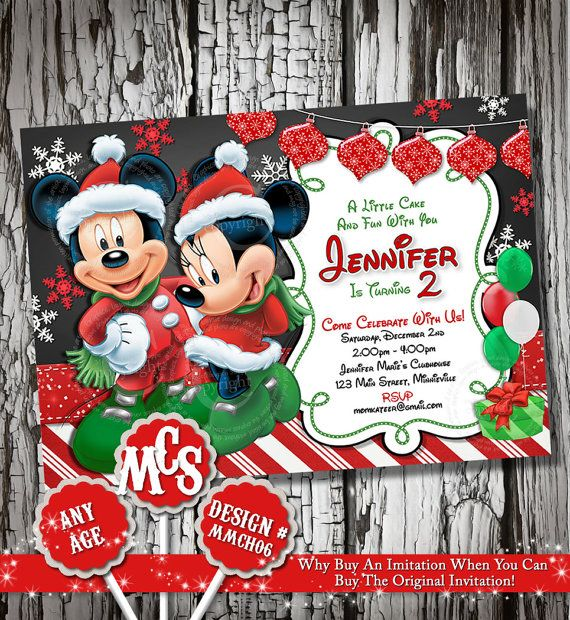 MINNIE MICKEY INVITATIONS Minnie Mouse by MyCelebrationShoppe