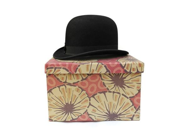 1920s Bowler Hat. Vintage Mens Hat and Hat Box. by LeBonheurDuJour, $110.00