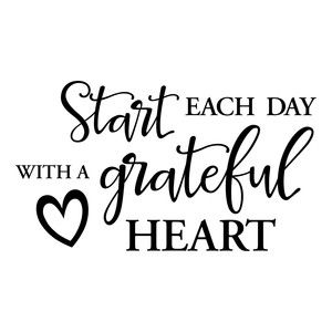 Silhouette Design Store: Grateful Heart Quote
