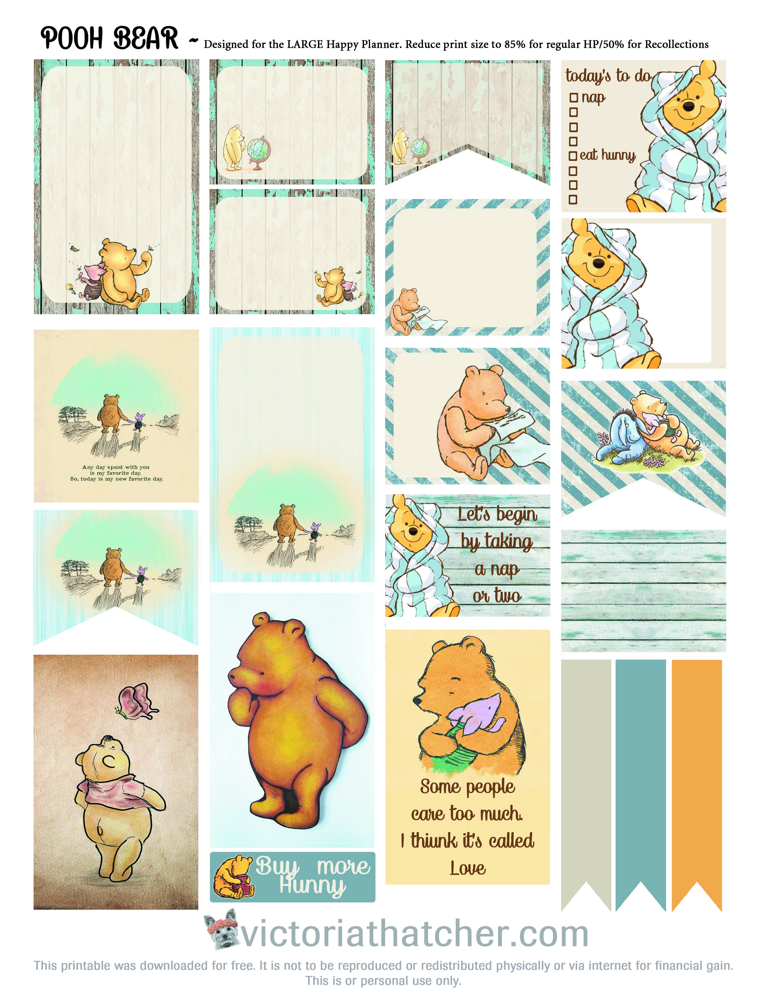 free printable for the large happy planner day planner s