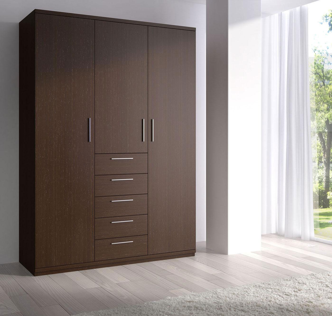 Bedroom classy wooden closet wardrobe ideas with modern for Wardrobe designs for small bedroom