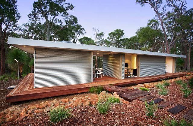 Eco friendly bach kit home pinterest prefab house for Eco cabin kits