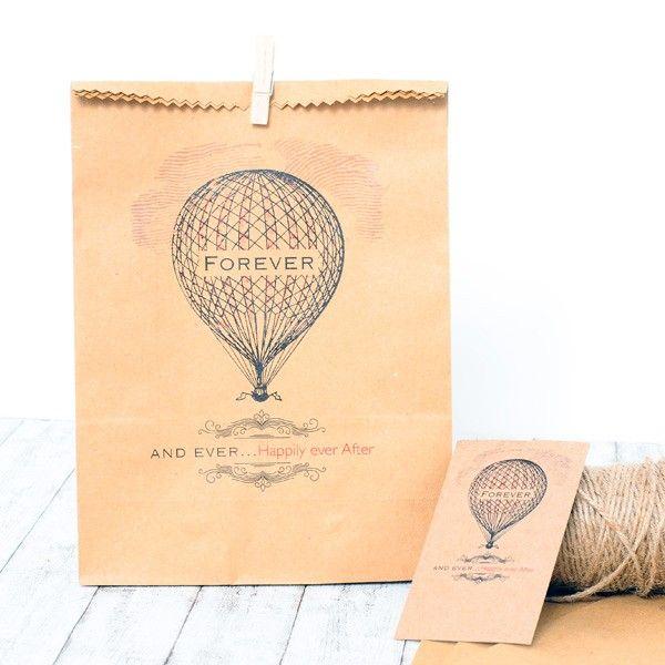 Bolsas craft para regalos romanticos