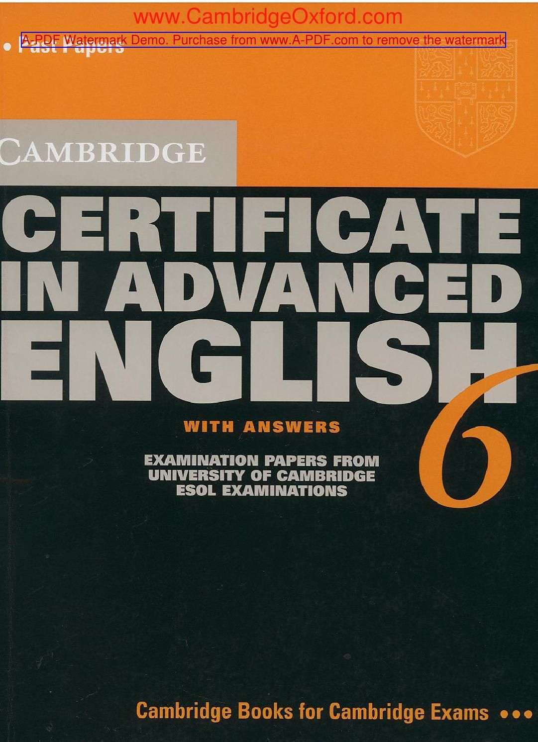 Audiolibros En Ingles Con Texto Cambridge Certificate In Advanced English 6 Fce Inglés B2