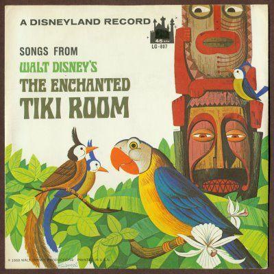"11/"" Enchanted Tiki Room Disney World sign pop ART Wood Vtg style Sign"