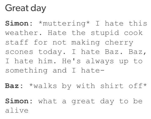 A great day, Simon.
