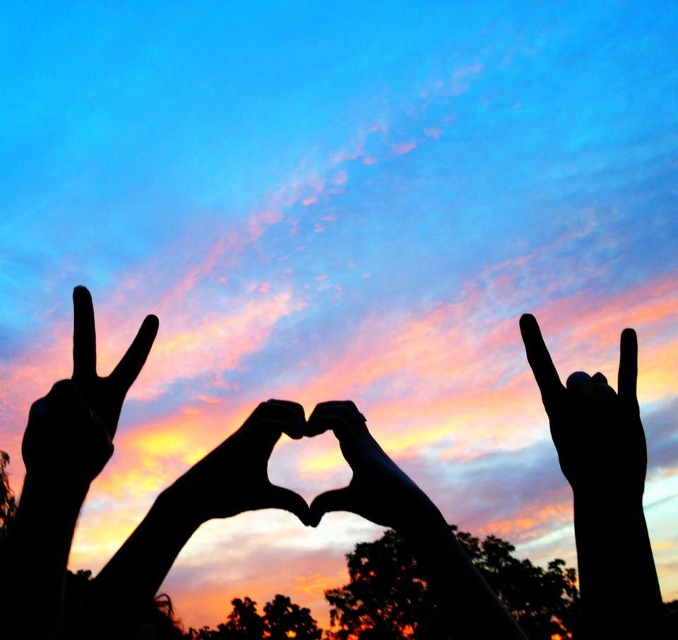 peace, love, rock and roll