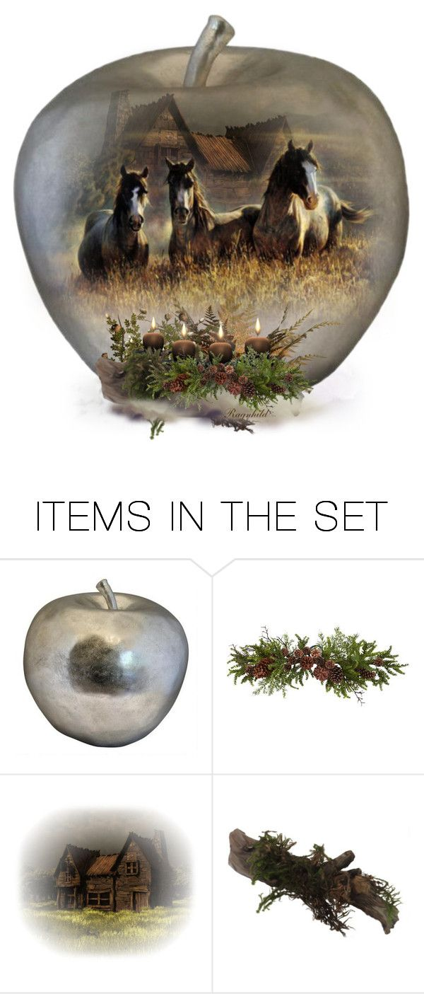 """An Apple a Day"" by ragnh-mjos ❤ liked on Polyvore featuring art, horses, apple and November"