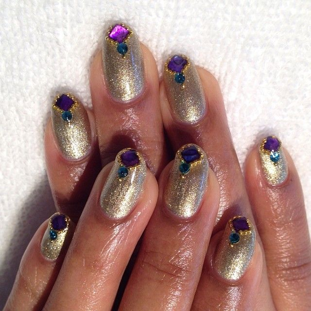 Glam Princess Nails using @Orly Nails \'Luxe\' #gelfx #gelnails ...