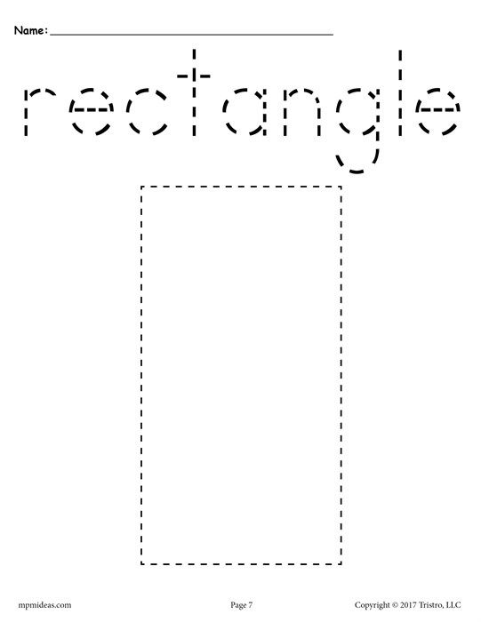 12 Shapes Tracing Worksheets | pre schooler | Pinterest